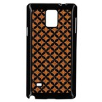 CIRCLES3 BLACK MARBLE & RUSTED METAL Samsung Galaxy Note 4 Case (Black) Front