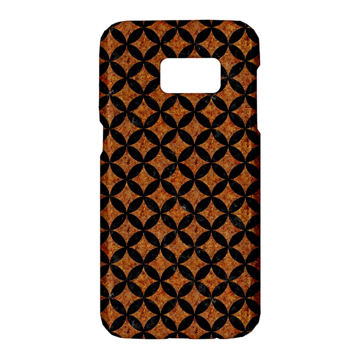 CIRCLES3 BLACK MARBLE & RUSTED METAL Samsung Galaxy S7 Hardshell Case