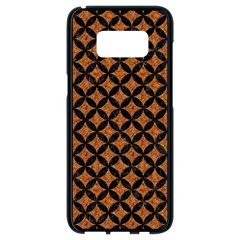 Circles3 Black Marble & Rusted Metal Samsung Galaxy S8 Black Seamless Case