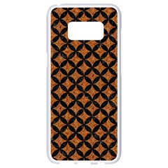 Circles3 Black Marble & Rusted Metal Samsung Galaxy S8 White Seamless Case