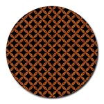 CIRCLES3 BLACK MARBLE & RUSTED METAL (R) Round Mousepads Front
