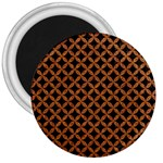 CIRCLES3 BLACK MARBLE & RUSTED METAL (R) 3  Magnets Front