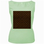 CIRCLES3 BLACK MARBLE & RUSTED METAL (R) Women s Green Tank Top Front