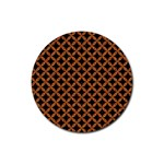 CIRCLES3 BLACK MARBLE & RUSTED METAL (R) Rubber Coaster (Round)  Front