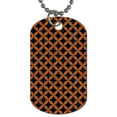 Circles3 Black Marble & Rusted Metal (r) Dog Tag (two Sides)