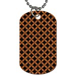 CIRCLES3 BLACK MARBLE & RUSTED METAL (R) Dog Tag (Two Sides) Front