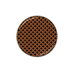 Circles3 Black Marble & Rusted Metal (r) Hat Clip Ball Marker