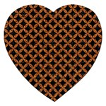 CIRCLES3 BLACK MARBLE & RUSTED METAL (R) Jigsaw Puzzle (Heart) Front