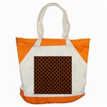 CIRCLES3 BLACK MARBLE & RUSTED METAL (R) Accent Tote Bag Front