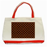 CIRCLES3 BLACK MARBLE & RUSTED METAL (R) Classic Tote Bag (Red) Front