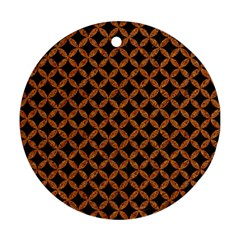 Circles3 Black Marble & Rusted Metal (r) Round Ornament (two Sides)