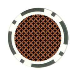 Circles3 Black Marble & Rusted Metal (r) Poker Chip Card Guard