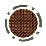 CIRCLES3 BLACK MARBLE & RUSTED METAL (R) Poker Chip Card Guard Front