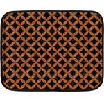 CIRCLES3 BLACK MARBLE & RUSTED METAL (R) Fleece Blanket (Mini) 35 x27 Blanket