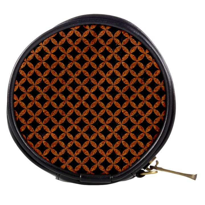 CIRCLES3 BLACK MARBLE & RUSTED METAL (R) Mini Makeup Bags