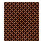 CIRCLES3 BLACK MARBLE & RUSTED METAL (R) Shower Curtain 66  x 72  (Large)  58.75 x64.8 Curtain