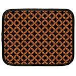 CIRCLES3 BLACK MARBLE & RUSTED METAL (R) Netbook Case (XL)  Front