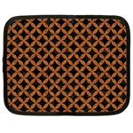 CIRCLES3 BLACK MARBLE & RUSTED METAL (R) Netbook Case (XXL)  Front