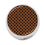 CIRCLES3 BLACK MARBLE & RUSTED METAL (R) 4-Port USB Hub (One Side) Front