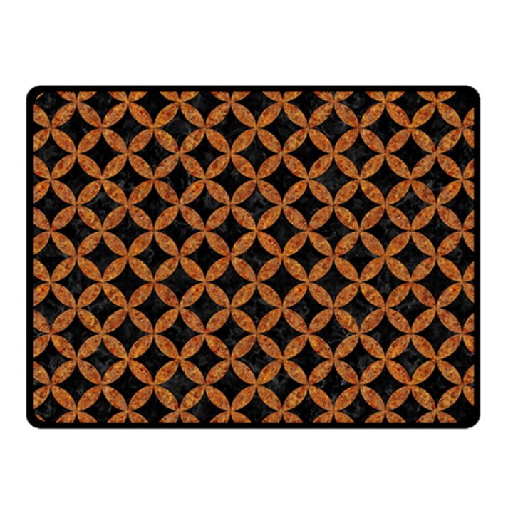 CIRCLES3 BLACK MARBLE & RUSTED METAL (R) Fleece Blanket (Small)