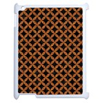 CIRCLES3 BLACK MARBLE & RUSTED METAL (R) Apple iPad 2 Case (White) Front