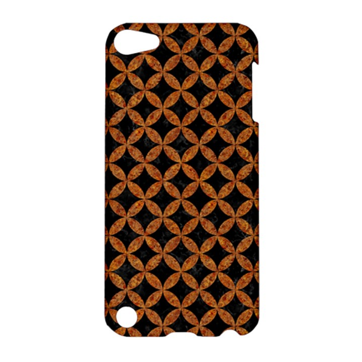 CIRCLES3 BLACK MARBLE & RUSTED METAL (R) Apple iPod Touch 5 Hardshell Case