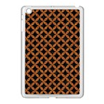 CIRCLES3 BLACK MARBLE & RUSTED METAL (R) Apple iPad Mini Case (White) Front