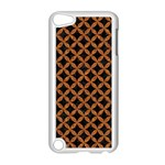 CIRCLES3 BLACK MARBLE & RUSTED METAL (R) Apple iPod Touch 5 Case (White) Front