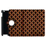 CIRCLES3 BLACK MARBLE & RUSTED METAL (R) Apple iPad 2 Flip 360 Case Front