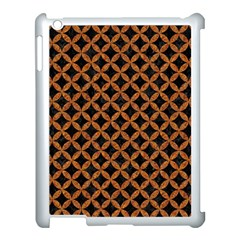 Circles3 Black Marble & Rusted Metal (r) Apple Ipad 3/4 Case (white)