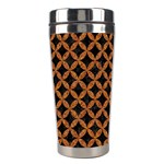 CIRCLES3 BLACK MARBLE & RUSTED METAL (R) Stainless Steel Travel Tumblers Right