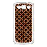 CIRCLES3 BLACK MARBLE & RUSTED METAL (R) Samsung Galaxy S3 Back Case (White) Front