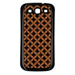 CIRCLES3 BLACK MARBLE & RUSTED METAL (R) Samsung Galaxy S3 Back Case (Black) Front