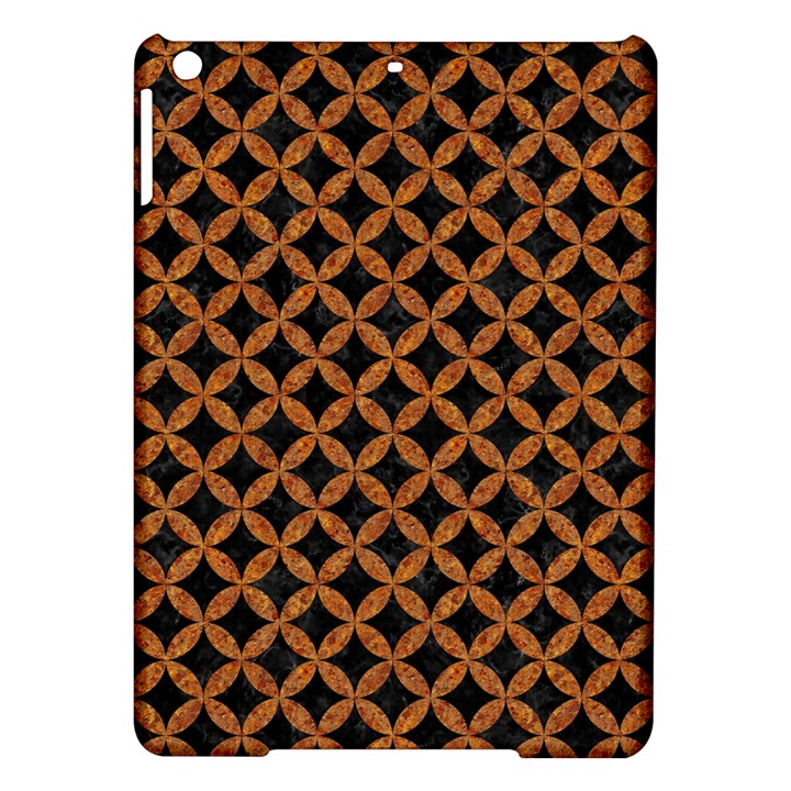 CIRCLES3 BLACK MARBLE & RUSTED METAL (R) iPad Air Hardshell Cases