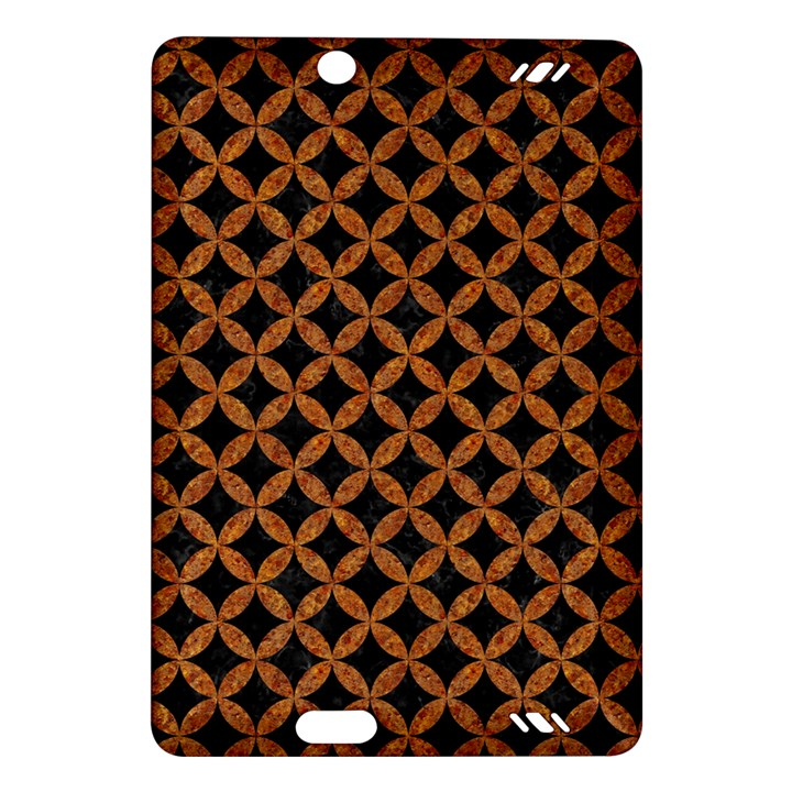 CIRCLES3 BLACK MARBLE & RUSTED METAL (R) Amazon Kindle Fire HD (2013) Hardshell Case