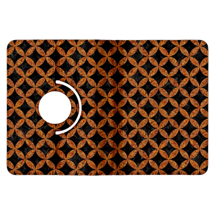 CIRCLES3 BLACK MARBLE & RUSTED METAL (R) Kindle Fire HDX Flip 360 Case