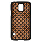 CIRCLES3 BLACK MARBLE & RUSTED METAL (R) Samsung Galaxy S5 Case (Black) Front