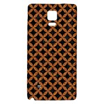 CIRCLES3 BLACK MARBLE & RUSTED METAL (R) Galaxy Note 4 Back Case Front