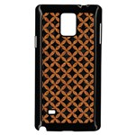 CIRCLES3 BLACK MARBLE & RUSTED METAL (R) Samsung Galaxy Note 4 Case (Black) Front