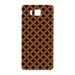 CIRCLES3 BLACK MARBLE & RUSTED METAL (R) Samsung Galaxy Alpha Hardshell Back Case Front
