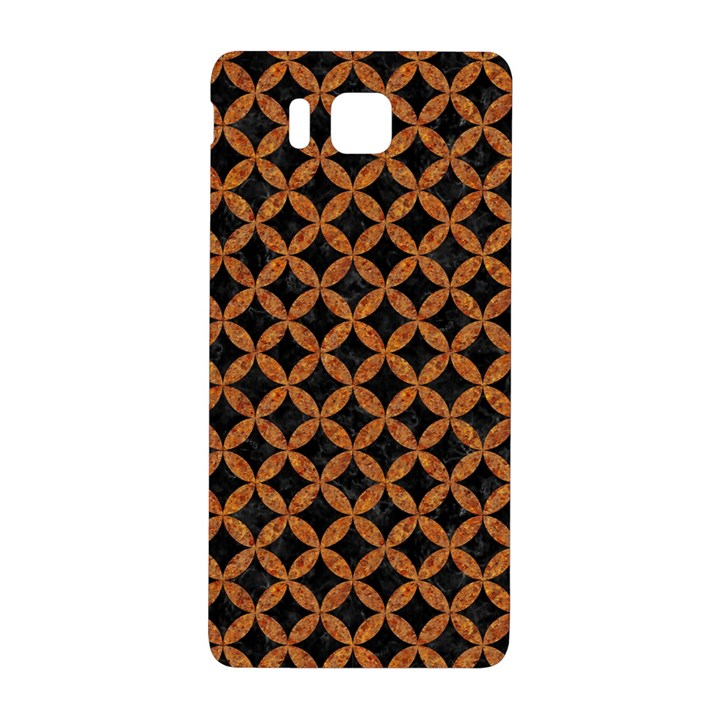 CIRCLES3 BLACK MARBLE & RUSTED METAL (R) Samsung Galaxy Alpha Hardshell Back Case