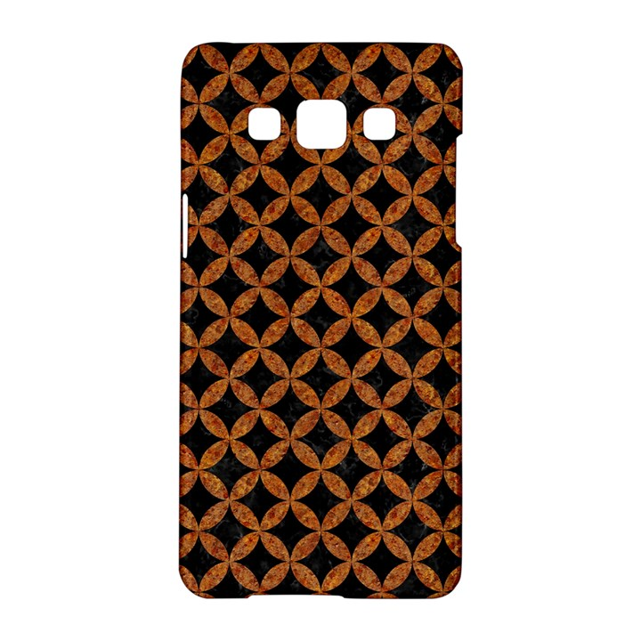CIRCLES3 BLACK MARBLE & RUSTED METAL (R) Samsung Galaxy A5 Hardshell Case