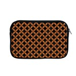 CIRCLES3 BLACK MARBLE & RUSTED METAL (R) Apple MacBook Pro 13  Zipper Case Front