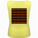 DIAMOND1 BLACK MARBLE & RUSTED METAL Women s Yellow Tank Top Back
