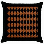 DIAMOND1 BLACK MARBLE & RUSTED METAL Throw Pillow Case (Black) Front