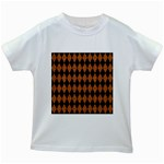 DIAMOND1 BLACK MARBLE & RUSTED METAL Kids White T-Shirts Front
