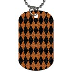 DIAMOND1 BLACK MARBLE & RUSTED METAL Dog Tag (One Side) Front