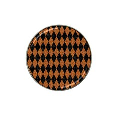Diamond1 Black Marble & Rusted Metal Hat Clip Ball Marker (10 Pack)