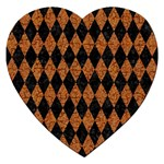 DIAMOND1 BLACK MARBLE & RUSTED METAL Jigsaw Puzzle (Heart) Front
