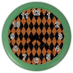 DIAMOND1 BLACK MARBLE & RUSTED METAL Color Wall Clocks Front